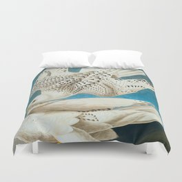 Iceland, or Jer Falcon Duvet Cover