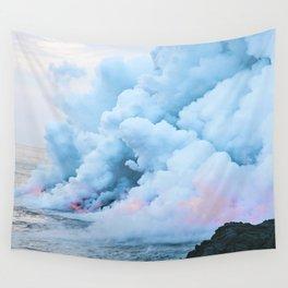 Pastel volcano smoke Wall Tapestry
