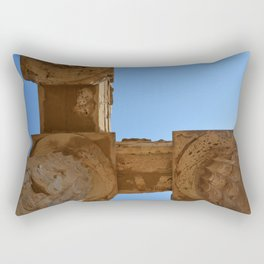 Temple of Hera Pillars | Ancient Ruins Photography | Blue sky  Rectangular Pillow