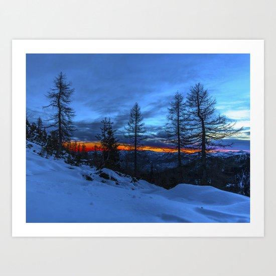 Warm Streak 1 Art Print