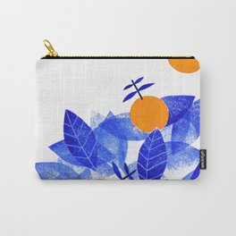 orange tree with blue leaves Carry-All Pouch