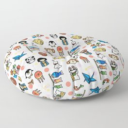 Lucky Japan Doodle Floor Pillow
