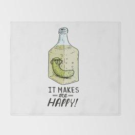 It makes me Happy! Throw Blanket