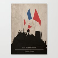 les mis Canvas Prints featuring Les Misérables by Abbie Imagine