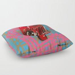 Pink Border Cap Floor Pillow