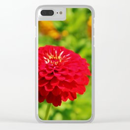 Red Zinnia Clear iPhone Case