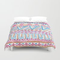 mexico Duvet Covers featuring New Mexico by Laura Maxwell