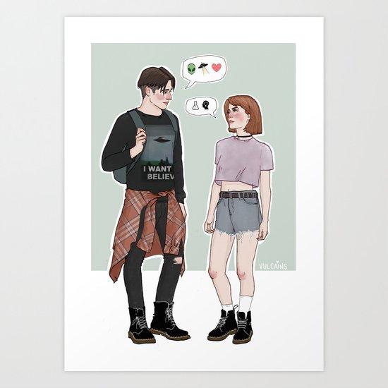 X-Files College AU Art Print