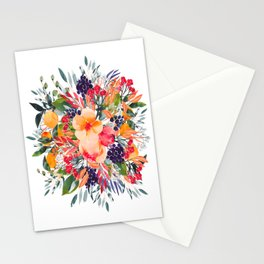 Autumn watercolor bouquet Stationery Cards