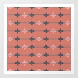 Capsules in Coral Art Print