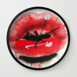 juicy lips Wall Clock
