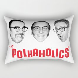 "The Polkaholics!  ""Polka Heads!"" Rectangular Pillow"
