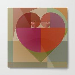 Fibonacci Heart III Metal Print