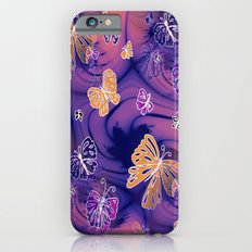 Flutterby Butterfly in purple and orange! iPhone 6 Slim Case