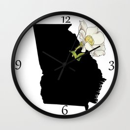 Georgia Silhouette Wall Clock