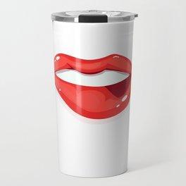 Womans Lips Travel Mug