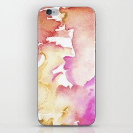 pink wash iPhone Skin