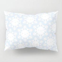 Kawaii Winter Snowflakes Pillow Sham