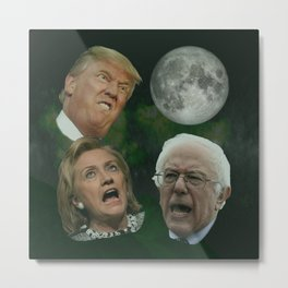 Three Politician Moon Metal Print