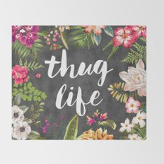 Thug Life Throw Blanket
