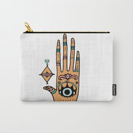 evil eye hand illustration Carry-All Pouch