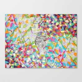 Pattern x Dog  Canvas Print