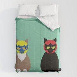 Gatos Luchadores Comforters
