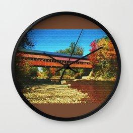 Call bridge on burlap Wall Clock