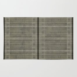 """Simple Oriental Curtains (Light grey)"" Rug"