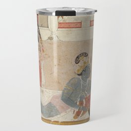 Krishna Awaiting Radha - 18th Century Classical Hindu Art Travel Mug