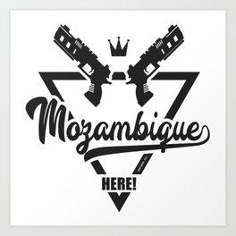 Mozambique Here! Art Print