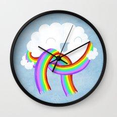 Mr clouds new scarf Wall Clock