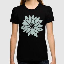 Flower Forest Fern Green on White T-shirt
