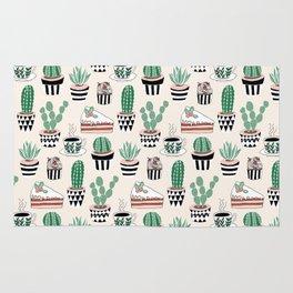 Cacti, Coffee and Cake Rug