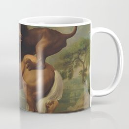 Classical Masterpiece, Circa 1762, Lion Attacking Horse by George Stubbs Coffee Mug