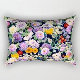 Seamless Nature Flowers Pattern Rectangular Pillow