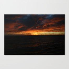 South Pacific Sunset DPG150625c Canvas Print