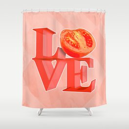 I LOVE TOMATO !!! Shower Curtain
