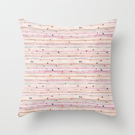 September Pattern Throw Pillow