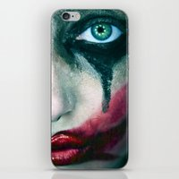 the joker iPhone & iPod Skins featuring Joker by Imustbedead