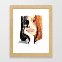 Is It Obvious I'm Bored? Framed Art Print