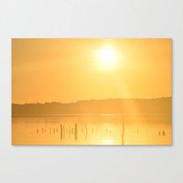 Sun's Morning Greeting Canvas Print