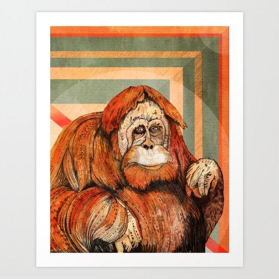 Mr. Orangutan Art Print