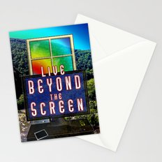 Live Beyond the Screen Stationery Cards