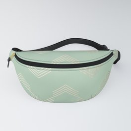 Simply Deconstructed Chevron in White Gold Sands and Pastel Cactus Green Fanny Pack