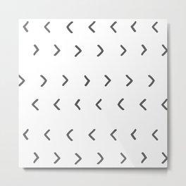 Mud Cloth Arrowheads // White Metal Print