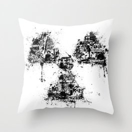 Radioactivity Symbol Throw Pillow