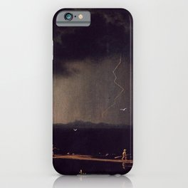 Thunderstorm On Narragansett Bay 1868 By Martin Johnson Heade | Reproduction iPhone Case