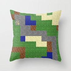 Pixel Craft Pattern Throw Pillow