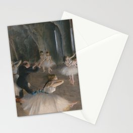 Edgar Degas - The Rehearsal Onstage Stationery Cards